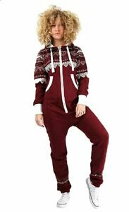 New Ladies 1Onesie Aztec Heart Print Jumpsuits One Piece All in One