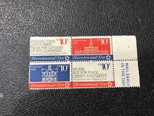 Bicentennial Era Stamps, Scott #1543-1546, 10 Cent, Block of 4