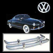 Brand new VW Karmann Ghia 1956-1971 Euro Style stainless steel bumpers