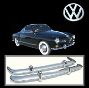 Brand new VW Karmann Ghia 1956-1971 Euro Style stainless steel bumpers