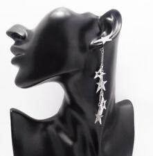 Zest Star Drop Swarovski Crystal Pierced Earrings Silver LOOK