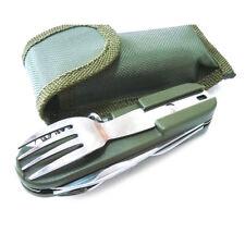7 in 1 Camping Hiking Spoon Fork Bottle Opener Knife Folding Pocket Multi Tools