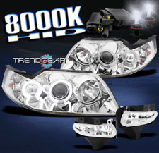 1999-2004 FORD MUSTANG HALO CHROME PROJECTOR HEAD LIGHT W/BUMPER FOG LAMP+8K HID