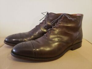 Allen Edmonds Fifth Street Balmoral Boot Size 11 D Made in USA Dark Brown AV