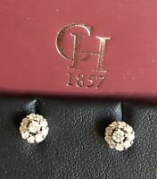 CHISHOLM HUNTER 9ct White Gold Diamond Earrings 0.25ct Daisy Cluster Studs