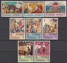 Yemen Kgr 1967 ** Mi.412/19 A Mauren Moors Kunst Art Spanien Spain
