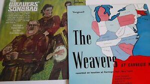 THE WEAVERS PETE SEEGER 2X EX VINYL LP CARNEGIE HALL 1957, SONGBAG 1967 JOB LOT