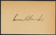 Judge Kenesaw Landis Autograph Reprint On Original Period 1910s 3x5 Card