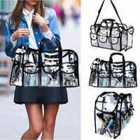 Clear Travel Makeup Case Wash Bag Transparent PVC Cosmetic Toiletry Shoulder Bag