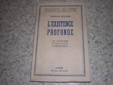1953.existence profonde / Francis Walder.philosophie
