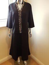Alex & Co Ladies 100% Linen Midi Dress Suit In Black Size 18