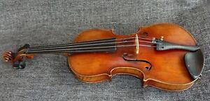 alte 4/4 Geige Violine mit Zettel Old Violin with Label spielbereit
