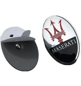 Maserati Front Emblem Ghibli,Granturismo,Quattroporte (Black/chrome)