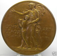 RARE 1920 SCHOOL ART LEAGUE OF NEW YORK CITY, FOR MERIT AWARD MEDAL, GORHAM CO