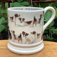 EMMA BRIDGEWATER original . Lots of Terriers . 1/2 pint MUG . Dogs
