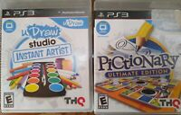 Lot of 2 uDraw Studio Instant Artist and Pictionary Playstation 3 PS3 2011