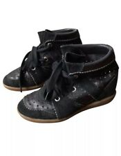 Isabel Marant Black Bobby Wedge Sneaker 36