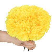 "100pcs Artificial Flowers 8"" Carnations Silk Flowers Heads Wedding Home Decor"