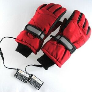 Charge Electric Battery Powered Winter Warm Heated Full Finger Glove Sport Ski