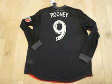 NWT Adidas 2018 DC United Wayne Rooney Authentic Long Sleeves Black Jersey 2XL