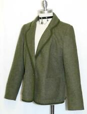 "LODEN WOOL GREEN JACKET German Women Winter LINED Walk Coat B43"" /Eu 48/12 M"