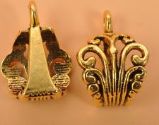 20pcs Tibetan silver  Antique Gold beads bail jewelry Connectors Bails pendant