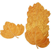 """Serenta Green Pumpkin / Maple Dining Table Placemat 18x13"""" Set of 6 Place Mats"""