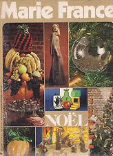 MARIE FRANCE N°202 décembre 1972 Noël