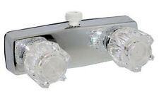"Made in USA Mobile Home RV 4"" Brass Shower Valve D-Spud Hand Held Shower 412D"