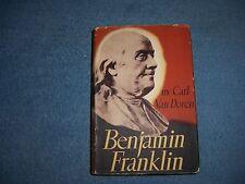BENJAMIN FRANKLIN by Carl Van Doren/1st Ed thus/Signed/HCDJ/Bio./Politcal