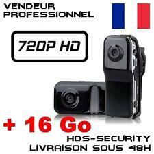 MINI DV CAMERA SPORT ESPION MD80 HD 720P + MICRO SD 16 GO MD80B-HD VIDEO USB DVR