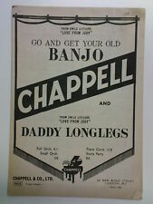 piano conductor GET YOUR OLD BANJO / DADDY LONGLEGS