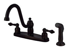 2 Handle Kitchen Faucet Oil Rubbed Bronze With Spray 39127