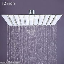 12 inch Ultra-thin Square Stainless Steel Rainfall Shower Head Top Shower