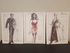 James Bond-QUATTROCCHI-Film Costume stampe disegni concettuali-Menta * a4