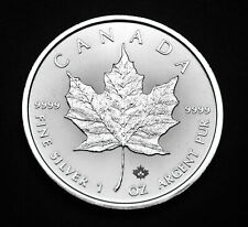 2020 $5 Canada Maple Leaf 1oz Fine .9999 Silver - one of the purest silver #56