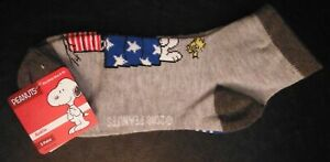 Peanuts Snoopy Woodstock 2 pairs ankle Socks  New size 4-10