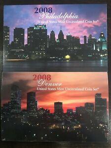 2008 Mint Set Sealed  U.S. Mint  P & D 28 Uncirculated Coins COA Sealed Set