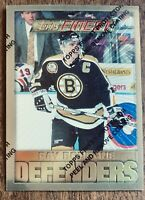 "1995-96 Topps Finest ""RARE"" Defenders Card  Ray Bourque #2 - MT"