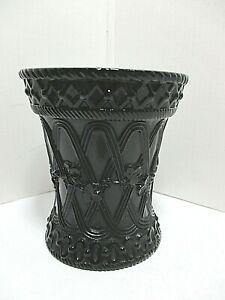 DAVIDSON BLACK MILK GLASS VASE