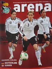 Programm Frauen LS 19.6.2013 Deutschland - Kanada in Paderborn