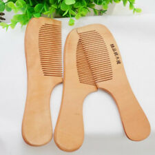 1pc Round Handle Wooden Peach Comb Natural Hair Health Care Anti-static Messager