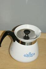 Rare Vintage Corning CornFlower Blue Coffee Tea Pot Kettle 8 cup 2 Qt Excellent
