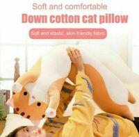 lange süße Katze Puppe Plüschtier weich gefüllte Kätzchen Wohnkultu Schlafk P2B1