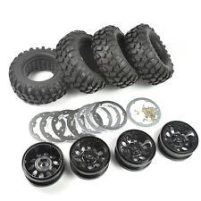 Crawler 96mm Tire Set 1.9 Inch Bead lock Wheels Rims for RC4WD D90 Tamiya CC01