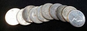 $5.00 Face Value 80% Silver Canadian Fifty Cent Coins 020217