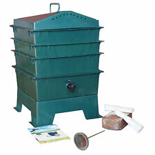 3-tray Worm Compost Bin with free thermometer