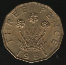 More details for 1951 george vi nickel-brass threepence coin | british coins | pennies2pounds