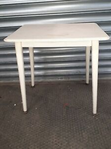 """Small Wooden Side Table Bedside Vintage 1960s 50s 70s  Occasional 19 x 13 x 20"""""""