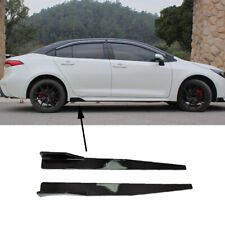 Painted Black Side Skirts Rocker Panel Body Fit For Toyota Corolla 2020-2022